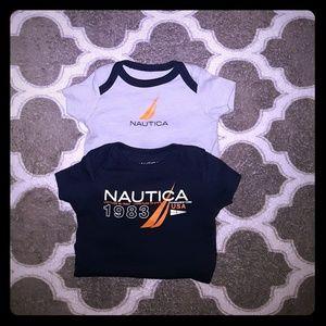 Baby infant unisex Nautica onesie size 0_3